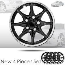 For Toyota New 15 inch Black Hubcaps Wheel Covers Full Lug Skin Hub Cap Set 522