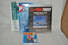 HP 100 sheet glossy photo paper SEALED +PRINT WORKS matte +Jet print lot