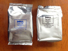 GENUINE AUTHENTIC DELL T0601 BLACK T0602 COLOUR TWIN PACK INK CARTRIDGES