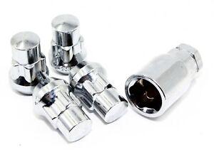 4 Chrome Acorn Wheel Lug Nut Locks 12x1.5 Toyota Tacoma Camry Corolla Avalon