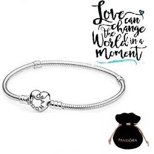 New Pandora 925 Sterling Silver Luxury Love & Hearts Women Charm Bracelet