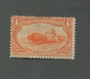United States Postage Stamp #287 Mint Hinged Disturbed OG
