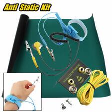 Green Desktop Anti Static ESD Grounding Mat +Wrist Strap + Cord + Ground 50x60cm