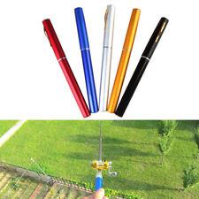 Mini Telescopic Portable Pocket Fish Pen Aluminum Alloy Fishing Rod Pole + Reel
