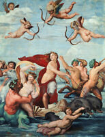 Triumph Of Galatea Raphael Renaissance Home Decor Print on CANVAS HQ Giclee 8x10