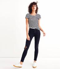 NWT Madewell 9'' High-rise Skinny Jeans In Black Sea Sz 26 Slimfit 2018 H2230