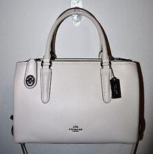 NWT Coach Chalk Brooklyn 28 Carryall Pebbled Leather Purse Bag 56839