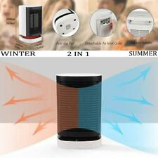 Oscillating  Portable Electric Desk Personal Cooler & Heater Table Fan 2 in 1