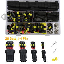 352pcs 1234pin Car Male Female Electrical Connector Plug Kit Set Waterproof