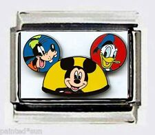 MICKEY MOUSE Characters Disney EARS HAT 9mm Italian Photo Charms for Bracelets