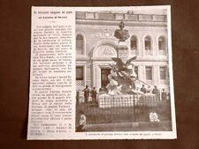 Tivoli nel 1903 Monumento al Principe Amedeo di Savoia Scultore Vito Pardo