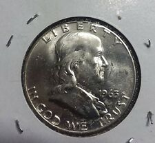 1963 D Ben Franklin Half dollar