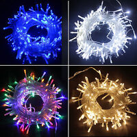 10m 100m LED Christmas Outdoor Garden Fairy Icicle String Light Waterproof 220V