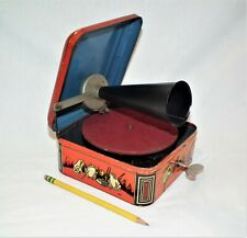 RARE SMALL ECOPHONE PORTABLE TOY PHONOGRAPH GRAMOPHONE 78 RPM RECORD PLAYER