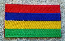 MAURITIUS FLAG PATCH Embroidered Badge Iron Sew 4.5 x 6cm République de Maurice