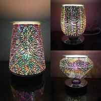 3D Desire Light Round Electric Wax Melt Aroma Touch Sensitive Lamp Burner Curved