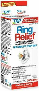 Ring Relief TABLETS for Tinnitus Treatment Ringing/Buzzing Noise Pain Ear Drops