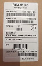 Polycom SoundPoint IP 331 IP Phone POE 2200-12365-025 BT CODE 050625 BOXED NEW