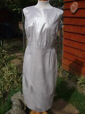 Stunning Pale  Gold Shimmery Pencil Dress- FRENCH CONNECTION- Size 16