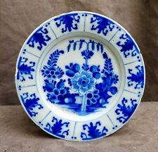 Nice Antique Delftware plate with a flower decor Delft 18th. century