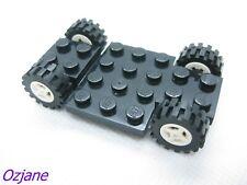LEGO PART 2441 BLACK VEHICLE BASE 4 X 7 X 2/3 WITH WHEELS