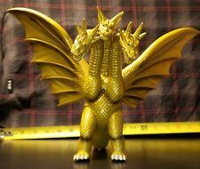 """1998 Bandai TOHO Godzilla Greenish Gold KING GHIDORAH 8"""" Vinyl Figure 61504"""
