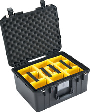 Black Pelican 1557 Air case with Padded dividers. (yellow)