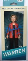 ELIZABETH WARREN SIGNED ACTION FIGURE TOY 2020 PRESIDENT EXACT PROOF BECKETT COA