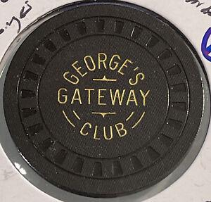 1952 GEORGE'S GATEWAY CLUB $100 Casino Chip LAKE TAHOE Nevada 3.99 Shipping