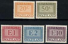 Swaziland 1977 Revenue Stamps x 5 MNH #D58719
