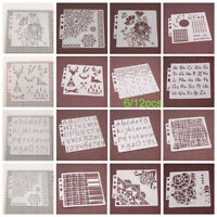 Layering Stencils For Painting Scrapbooking Decor Embossing Paper Card Template