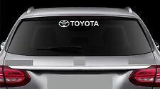 Rear Window Sticker fits Toyota and Logo Vinyl Decal Car New Emblem Logo RW105