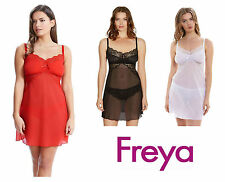 Freya Fancies Chemise Nightdress 1018 Chilli Red, White, Black, Hot Coral