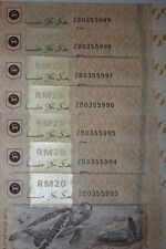 (PL) RM 20 ZB 0355993-999 1 ZERO 7 PIECES RUNNING NUMBER REPLACEMENT NOTE