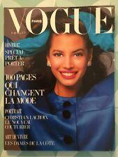 VOGUE PARIS French n 678 Août 1987 Christy Turlington - Christian Lacroix
