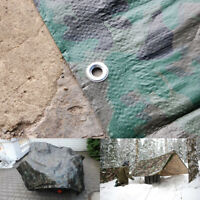 Camo Heavy Duty Tarp Cover 11 SIZES Waterproof Caravan Camping Ground Sheet