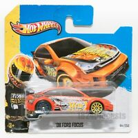 Ford Focus Orange, 2013 Hot Wheels, scale 1:64, model toy boy gift