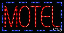 """New """"Motel"""" 32x17 Solid/Animated Real Led Sign w/Custom Options 21096"""