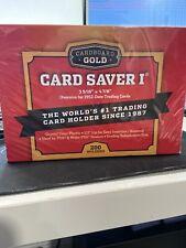 (200) Card Saver 1 Cardboard Gold (4 packs of 50) New Sealed Box