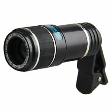 Universal 12X Zoom Telescope Clip-on Camera Lens for Mobile Cell Phone iPhone 6S
