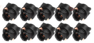 """10x 3/8"""" Sockets for Dash Instrument Panel Light Bulb/LED T5 70 74 Fits Cadillac"""