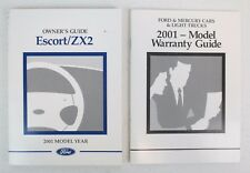 Genuine 2001 01 Ford Escort/ ZX2 Owner's Owner Owners Manual Guide Kit Set