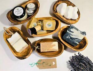 Handcarved Unique Rustic Olive Wood Soap Dish, Eco Friendly, Plastic Free, Susta