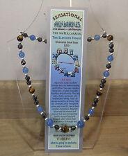"""AQUARIUS Hand-made 18"""" 'Astro' - Gemstone Necklace Plus FREE book and BOOKMARK"""