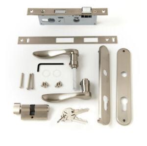 New Andersen Classic Style Nickel Locking Handle Set for Storm/Screen Door 41598
