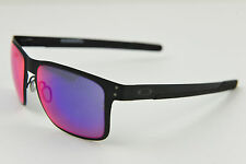 "Oakley Metal Holbrook ""OO4123-02"" Matte Black/Positive Red Iridium 55-18-127"