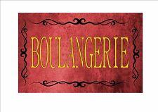 Vintage BOULANGERIE Signe Rétro Style CUISINE Français ENSEIGNE DE BOUTIQUE