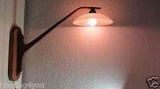 Dänische Wand Lampe Teak - Glas Leuchte Holz '60er Jahre