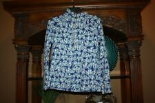 Lilly Pulitzer Get Trunky Elephant Skipper Popover Size Small S Blue White