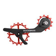 Red Carbon Fiber Rear Derailleur Pulley Wheel for Shimano 9100 9150 R8000 R8050